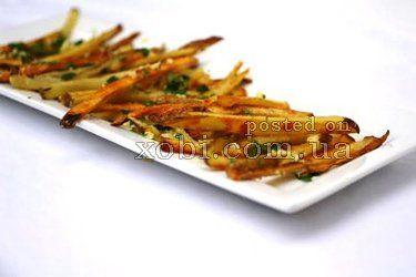 рецепт картошки фри с чесноком и пармезаном