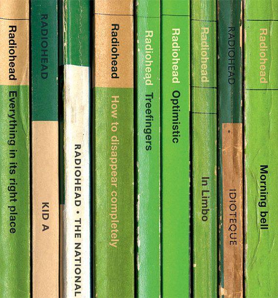Radiohead 'Kid A' Poster Print Album As Books by StandardDesigns