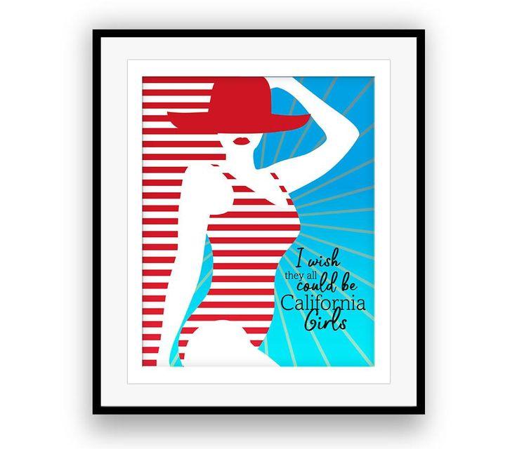 Beach Boys (CALIFORNIA GIRLS) Song Lyric Poster