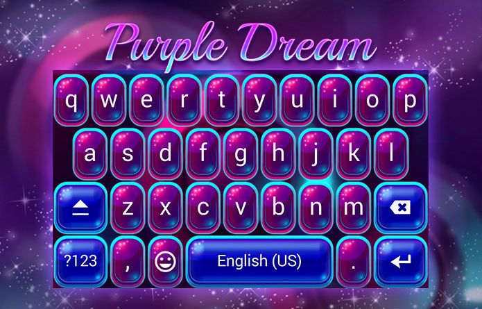 Purple Dream Theme: Dreams CAN be purple, especially with this Android keyboard theme for Redraw keyboard :) #android #theme #design #wallpaper #keyboard #technology #gadgets #design #redrawkeyboard #purple #dreams