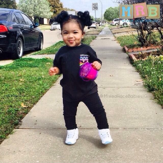 Chinese & African American Autumn - 14 Months