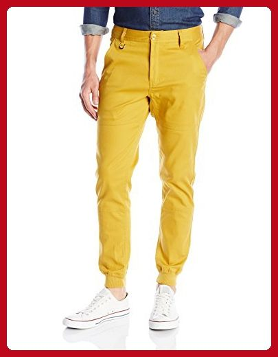 PUBLISH BRAND INC. Men's Legacy Stretch Jogger Pant with Water Resistant Coat, Mustard, 34 - Mens world (*Amazon Partner-Link)