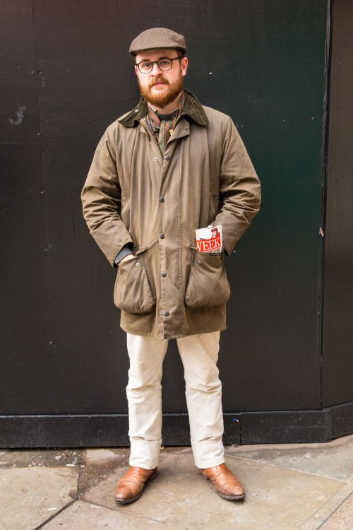 ... out and about in London last month searching for your best Barbour  styles - Alex perfects the smart country look with beige trouser…  d1ce8c34130