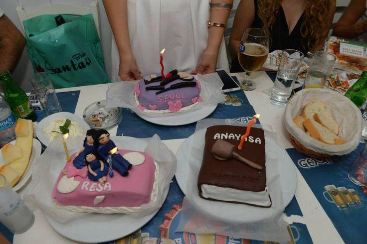 Trilogy  Sevgi-Resa-Anayasa mini pastaları #birthdaycake #fondantcake #minicake