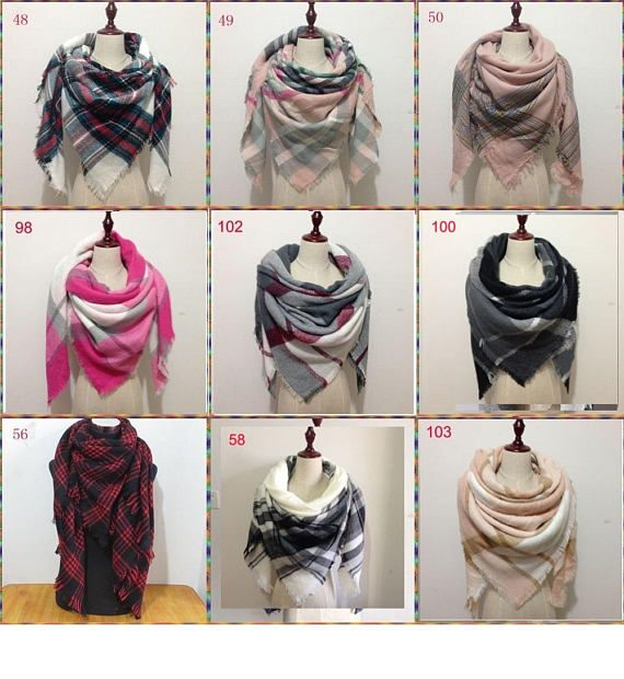 Plaid Blanket Scarf, Blanket Scarf, Tartan Plaid Scarf, Tartan Scarf, Gift For Her, Oversized Blanket Scarf, Plaid Scarf, Christmas Gifts If no color was chosen, we will randomly choose a color for you How to choose colors: zoom in the picture and leave me a note in the note to seller