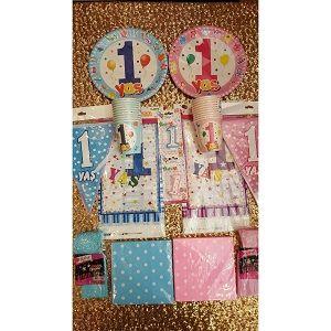 20 Kişilik 1 Yaş Doğum Günü Parti Seti - Doğum Günü Süsleri | Nice Yaşlara
