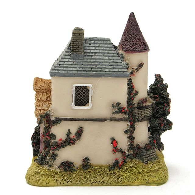 Vintage Resin Craft Miniature House Fairy Garden Home Decoration Resin Garden Figurines Micro Landscape Bonsai For Home Decor