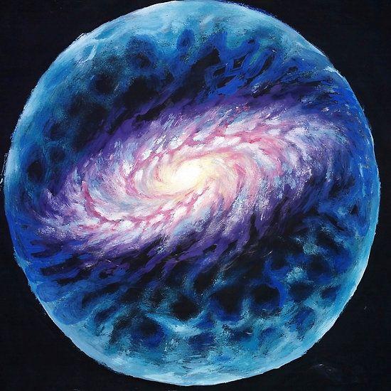 Plasma sphere around the galaxy painting