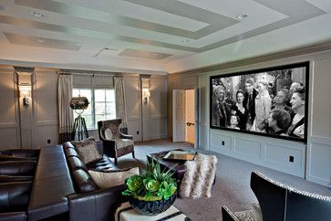 15 Beautiful Home Theater Design Ideas & The Technology To Make It Happen | Dig This Design. Transitional Home Theater by Mansfield Home Media Design & Installation H. Customs Electronic Integrators