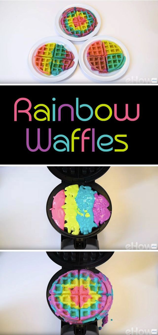 Rainbow waffles are fun and easy to create! Just takes a little bit of food coloring and a ton of imagination. The kids will jump out of bed to help you make these! Recipe here: http://www.ehow.com/how_12343475_rainbow-waffle-recipe-everyone-love.html?utm_source=pinterest.com&utm_medium=referral&utm_content=freestyle&utm_campaign=fanpage
