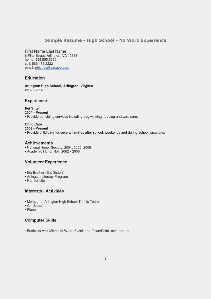 resume examples for highschool students beautiful how to make a resume for a highschool student