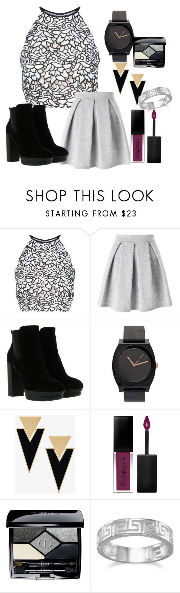 """""""Untitled #3"""" by stefanihaley ❤ liked on Polyvore featuring Keepsake the Label, Miss Selfridge, Hogan, Yves Saint Laurent, Smashbox, Christian Dior and BillyTheTree"""