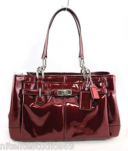 Coach Chelsea Wine Red Jayden Patent Leather East West Carry All Bag 17855 358 Ebay Great Ideas Pinterest Bags And Handbags
