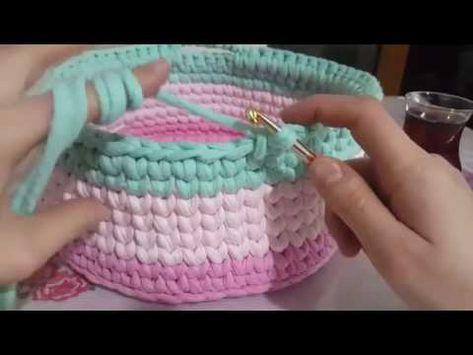Panier fait main en corde peignée (fabrication de paniers modèle …)