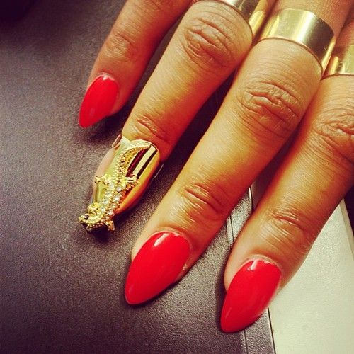 58 best nails images on pinterest coffin nails nail and nail art nails red claws accentnail obsessed nails art gold nails prinsesfo Choice Image