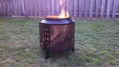 Fire Pit made from an old dryer drum!