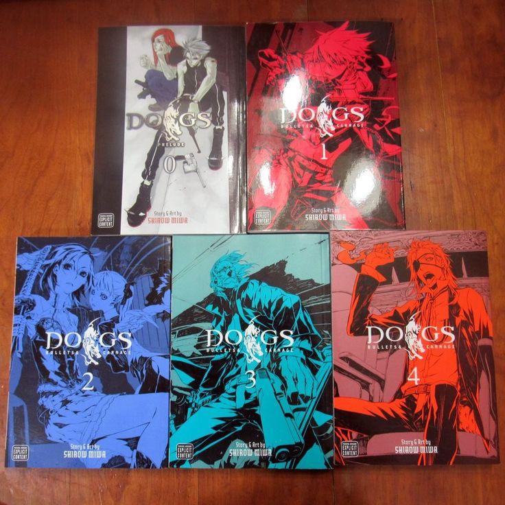 Dogs Bullets Carnage Volumes 0-4 Manga English Five Book Lot Anime Shirow Miwa