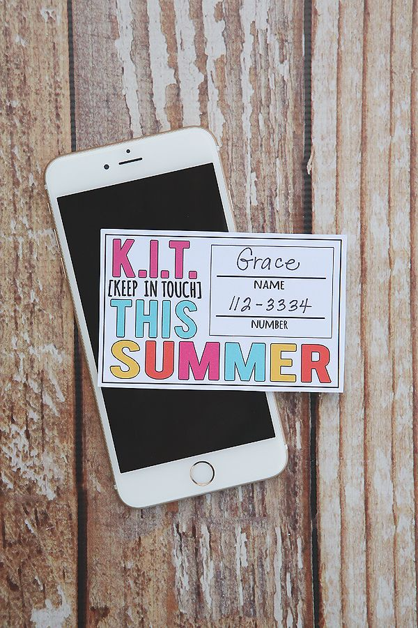 Keep In Touch Cards so kids can keep in touch with their friends this summer!