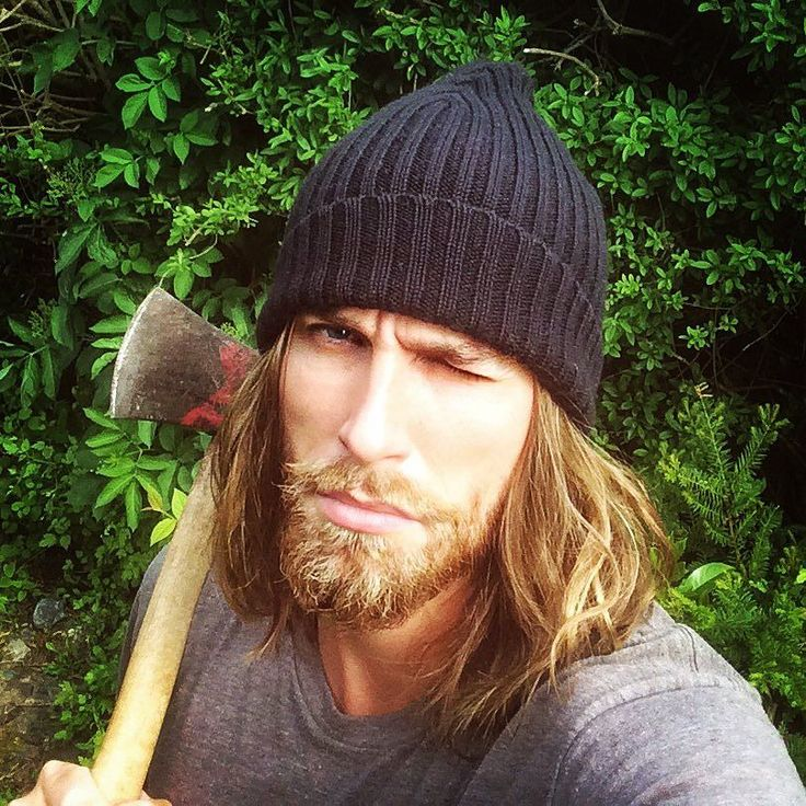 Instagram-tip for boys #1: Wanna ooze primal masculinity? Just grab a nearby axe and pose with it #instatips by joachimwichmann