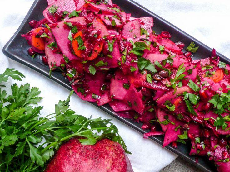 Knutekål- og rødbetsalat
