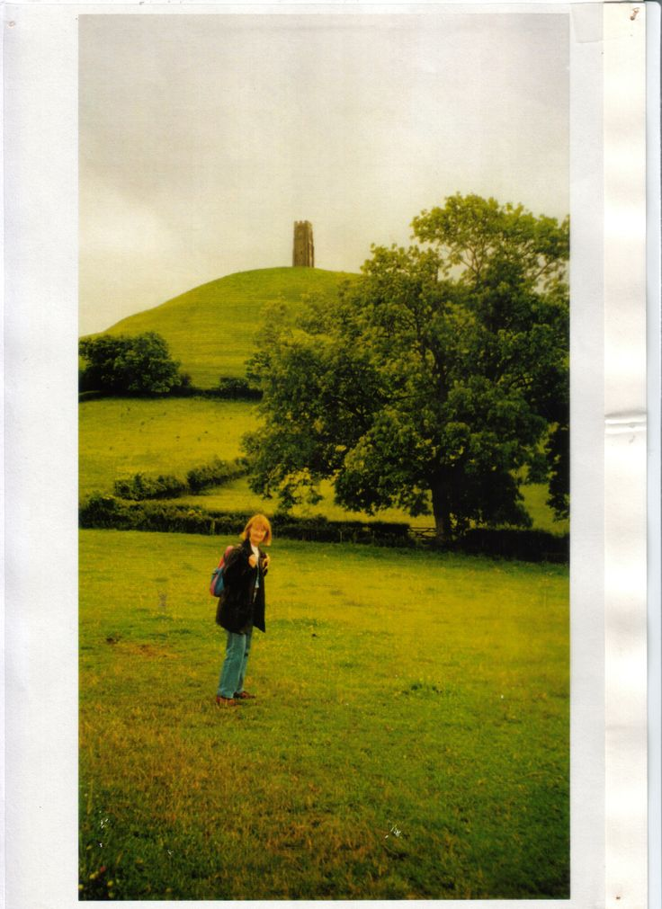Glastonbury Tor aka 'the magical Isle of Avalon' where Arthur went to be healed of his wounds after the Battle of Camlann. In past time, in a big wet, where I'm standing would have flooded so that the Tor would, indeed, have looked like an island.