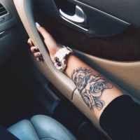 Tatouage   sur  pour
