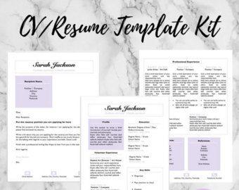 modern resume cover letter template editable word format