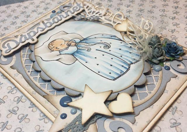 Lene'S Stempelkrok: DT Papirdesign- Dåpsbarnet