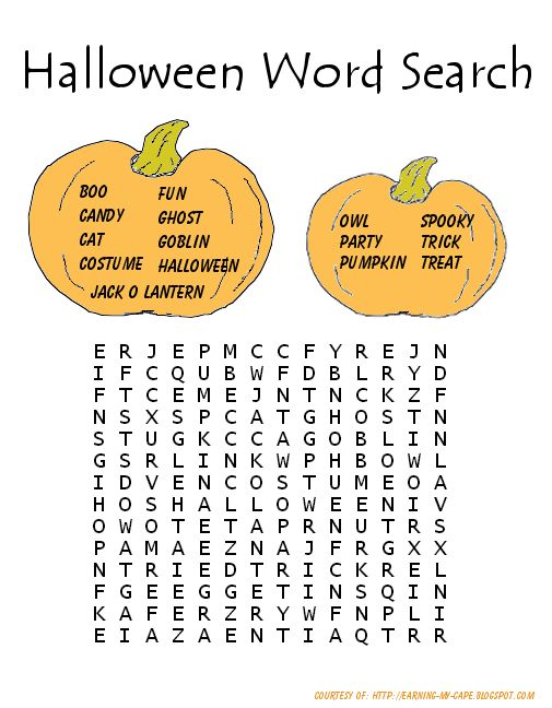 The 25 best Halloween word search ideas on Pinterest  Halloween