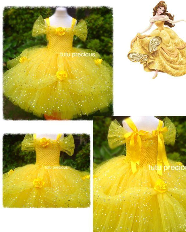 Disney Inspired Beauty and the Beast Belle Princess Tutu Dress