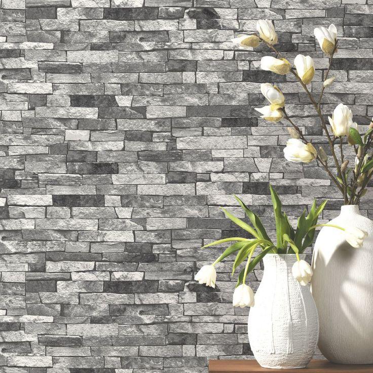 Grey Slate Stone Wallpaper P+S 05546-30