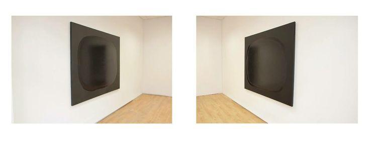 Sebastian Krzywak, Stella Maris, mixed media on canvas, 180x135 (x2) 2014, installation view