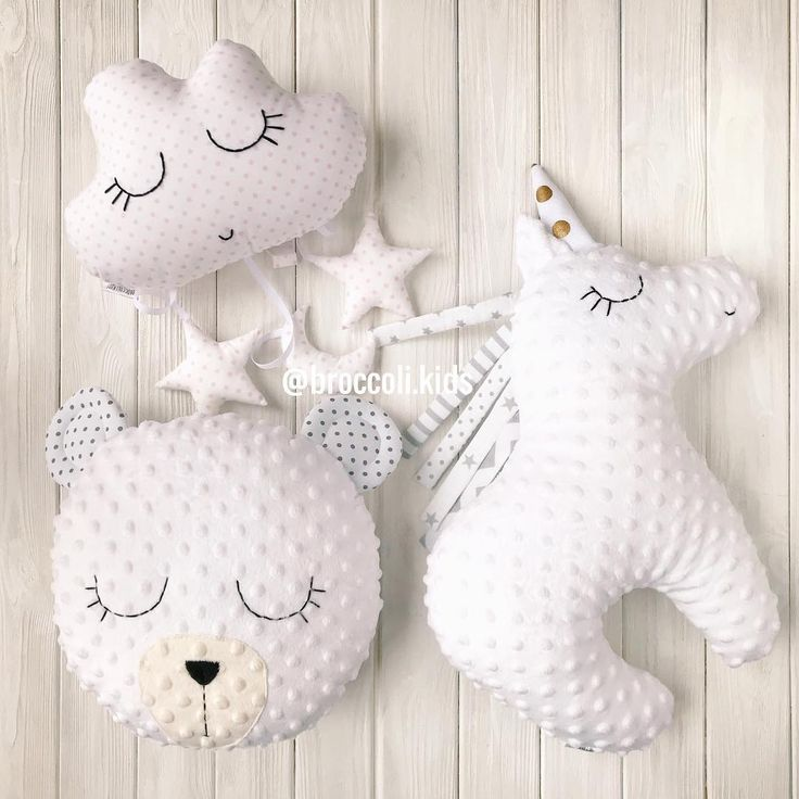 Мягкие подушечки в кроватку вашему малышу  •Единорог 350 •Мишка 350 •Тучка 250