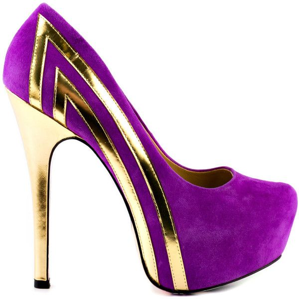 Taylor Says Women's Blondie - Purple ($160) ❤ liked on Polyvore featuring shoes, pumps, heels, purple, heels & pumps, purple high heel pumps, high heel pumps, suede pumps and heels stilettos