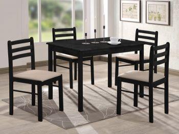 обеденный Комплект деревянной мебели Сириус 1 стол 4 стула цвет венге