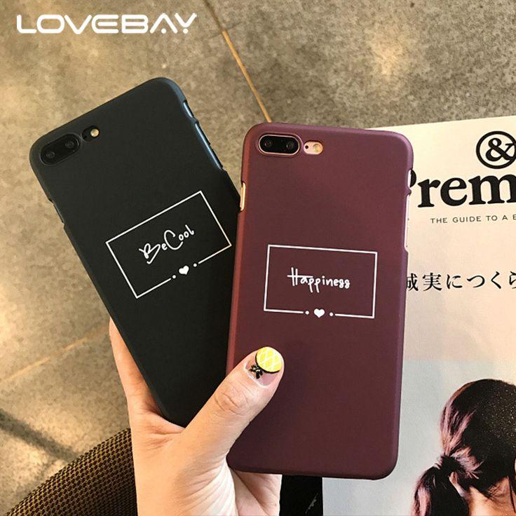 LOVEBAY Mode Rotwein Brief Telefonkasten Für iPhone 7 6 6 s Plus Nette Lustige …