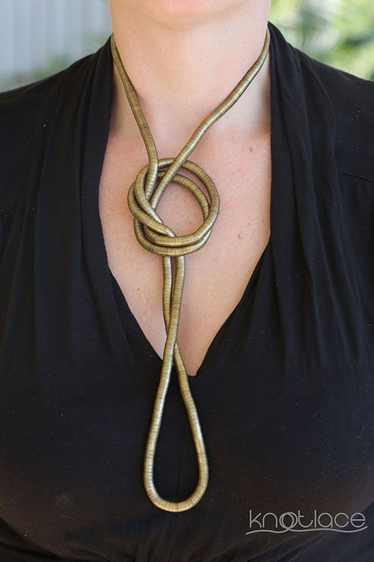 'Long' Knotlace or bendy necklace or accessory – Antique Gold. - http://www.knotlace.com.au/ #style #fashion #accessory #jewellery #antiquegoldaccessory #rosegoldaccessory