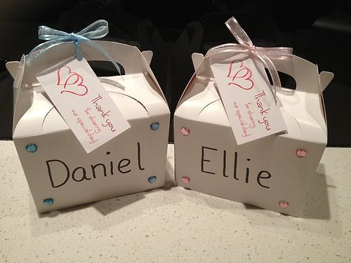 Personalised Childrens Kids Activity Party Wedding Favour Bag / Boxes Pink Blue