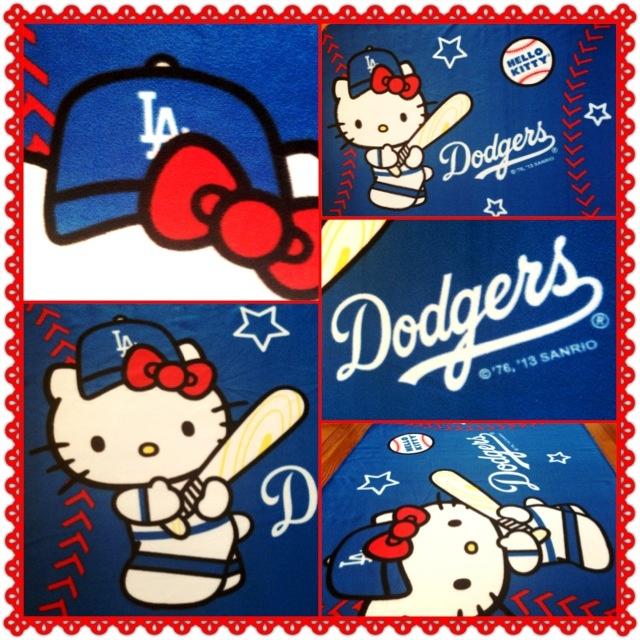 Love This Hello Kitty Dodgers Baseball Blanket Dodgers