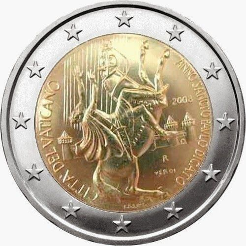 2 Euro Commemorative Coins: 2 euro Vatican City 2008, The Year of St. Paul – the 2000th anniversary of his birth