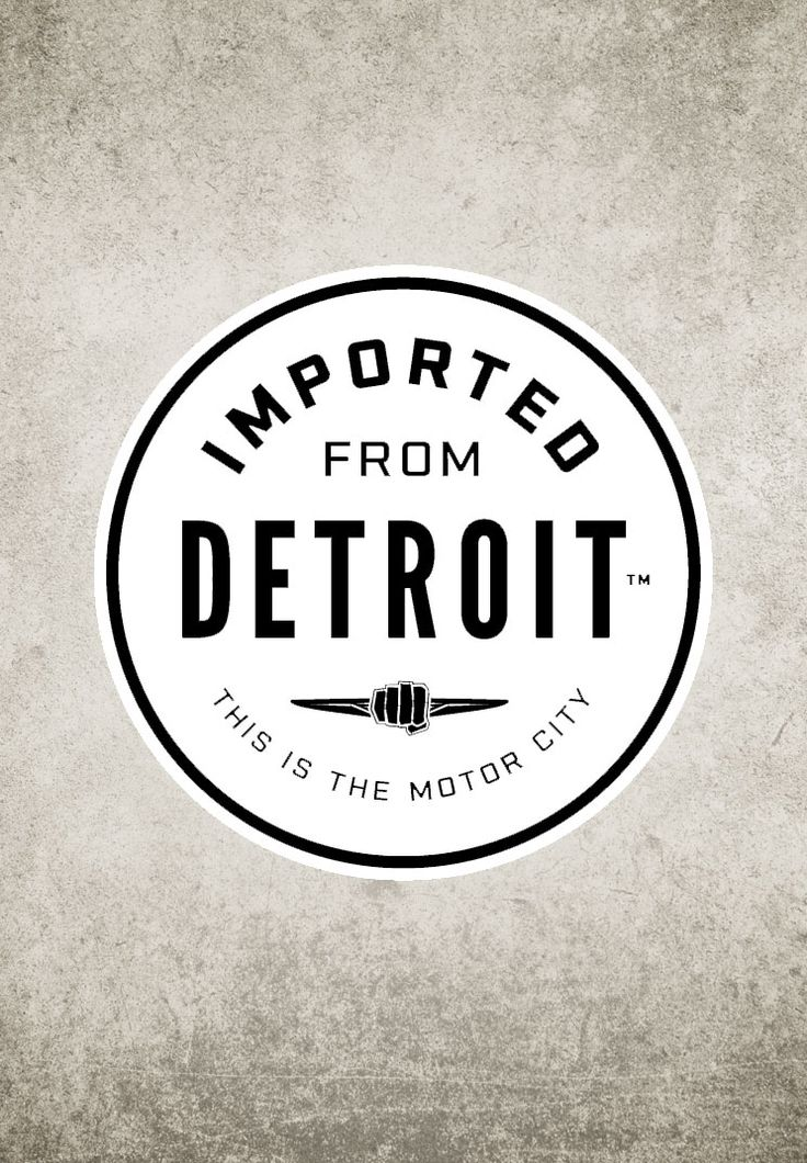 new Imported from Detroit decal - love this!