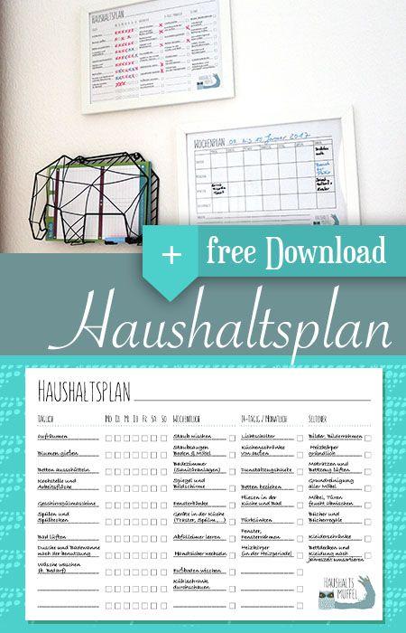 Dieses Jahr versuchen wir geordnet mit einem Haushaltsplan zu starten. Mal sehen ob das funktioniert. Auf dem Blog gibt es hier eine tolle Vorlage für euch. #haushalt #putzplan #household #gutevorsätze #kommandozentrale #organizationwall #printable