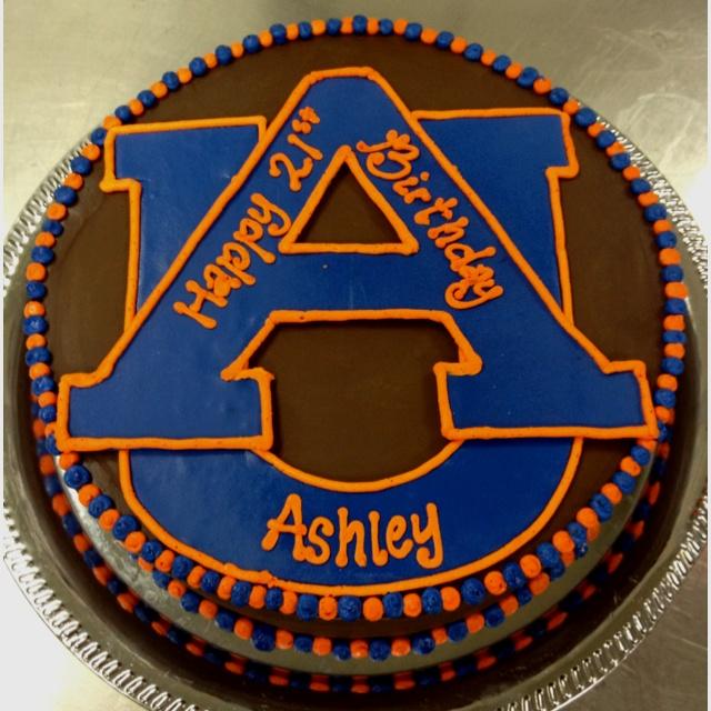 Auburn Birthday Cake Auburn Everything Wde Pinterest