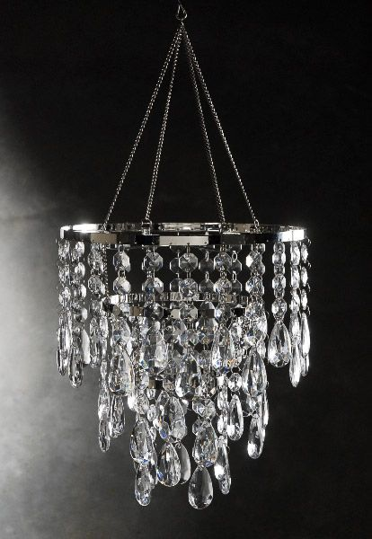 Chandeliers That Plug In: Crystal Chandelier 3 Tiers. Plug In ...,Lighting