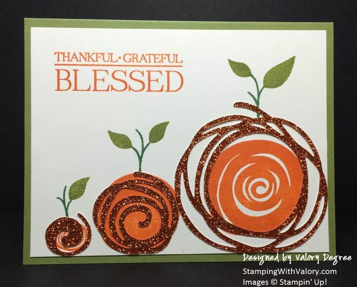 Stampin' Up! Swirly Scribbles Thinlits, Swirly Bird and Paisleys & Posies stamp sets, and instructions on how to conserve your Pumpkin Pie Glimmer Paper!