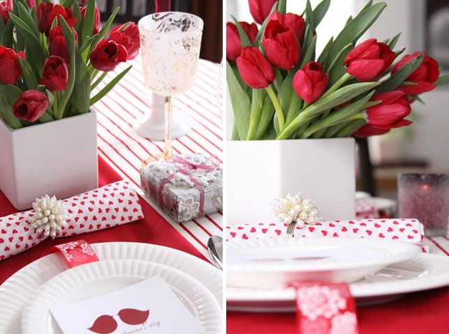 We love our nights out, but nights in can be so much more romantic. Cook up a bunch of you and your sweetie's favorite dishes and desserts, create a love-filled tablescape, and you're one step closer to that perfect Valentine's night. Here are 12 such settings to inspire your own homespun style.