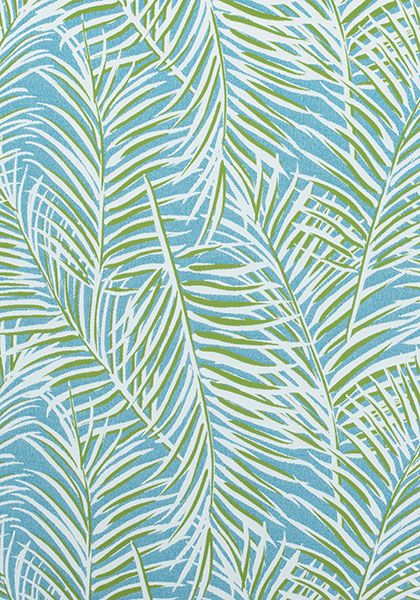 WEST PALM WOVEN, Kiwi on Spa Blue, W80563, Collection Oasis from Thibaut