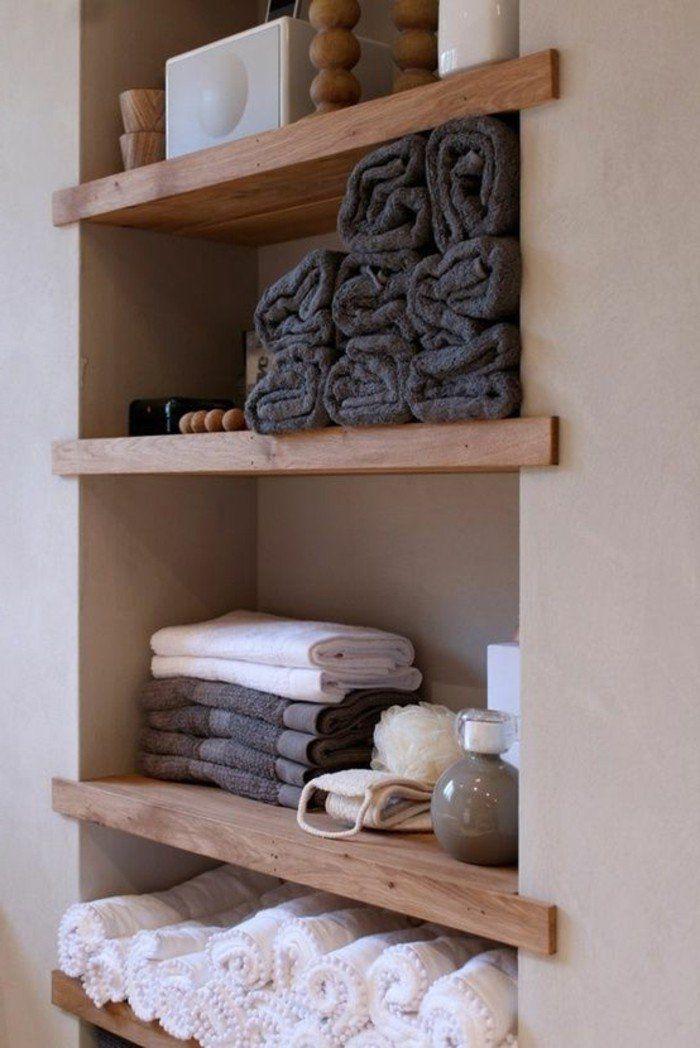 comment bien ranger les serviettes, les portes serviettes murales salle de bain