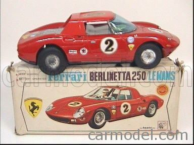 ATC ASAHI JAPAN TIN 5558 Scale 1/15  FERRARI 250 LE MANS N 2 RED