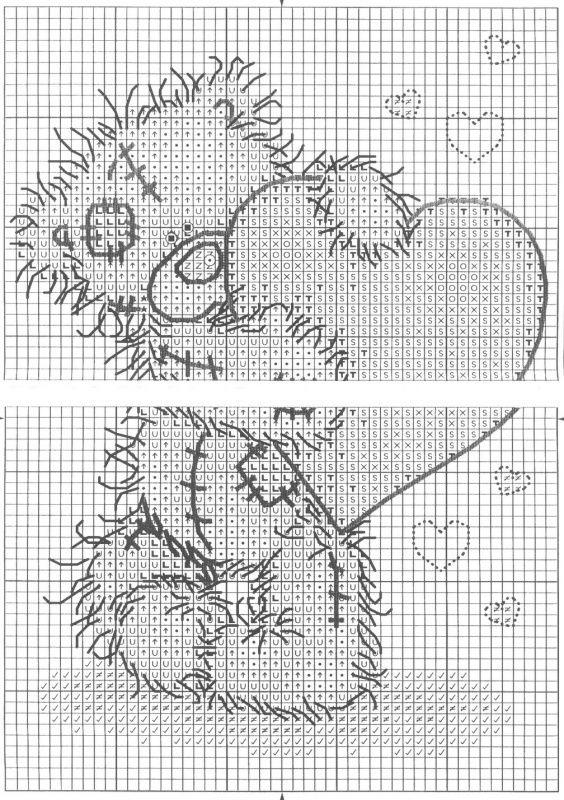 Схема вышивки Hearts (Anchor)